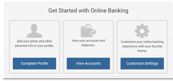 Digital Banking Get Started Screen