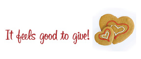 Holiday Dough Logo--It feels good to give!