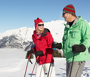 Certificate Offers--Skiing Couple Happy