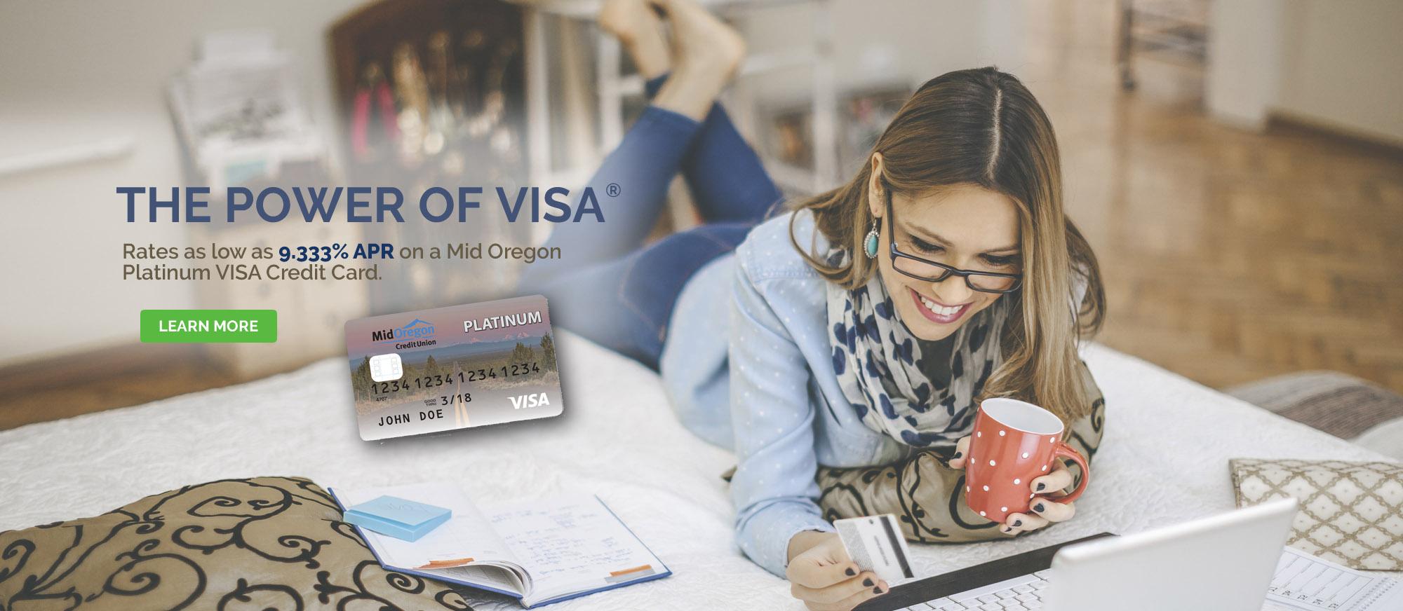 VISA Platinum Credit Card rate as low as 9.333% APR