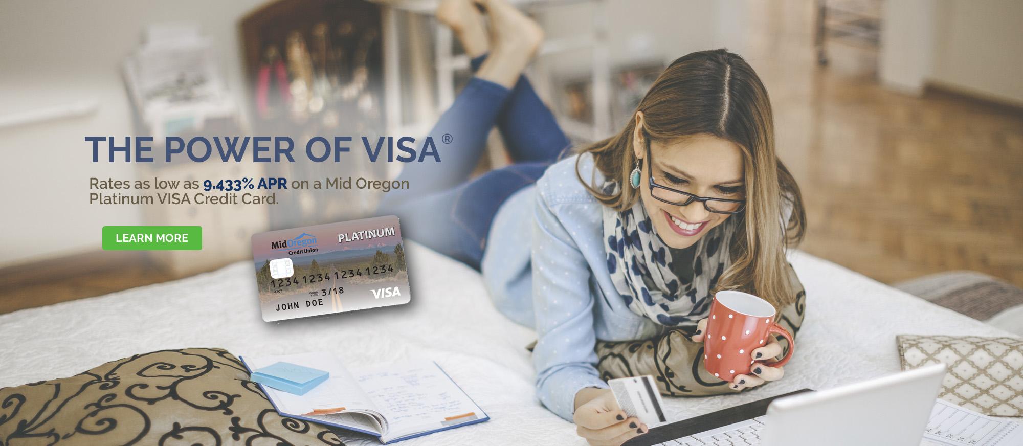 VISA Platinum Credit Card rate as low as 9.433% APR