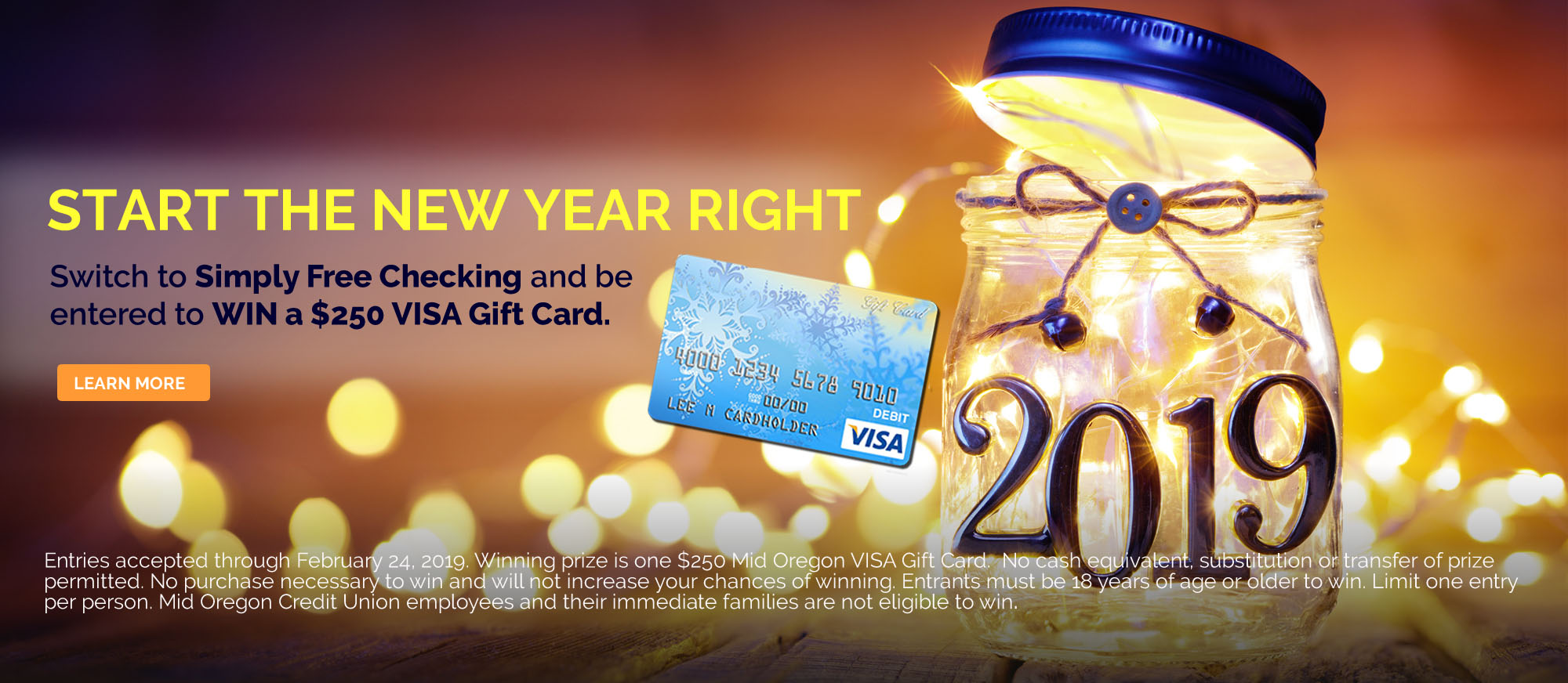 Simply Free Checking Promotion VISA Gift Card