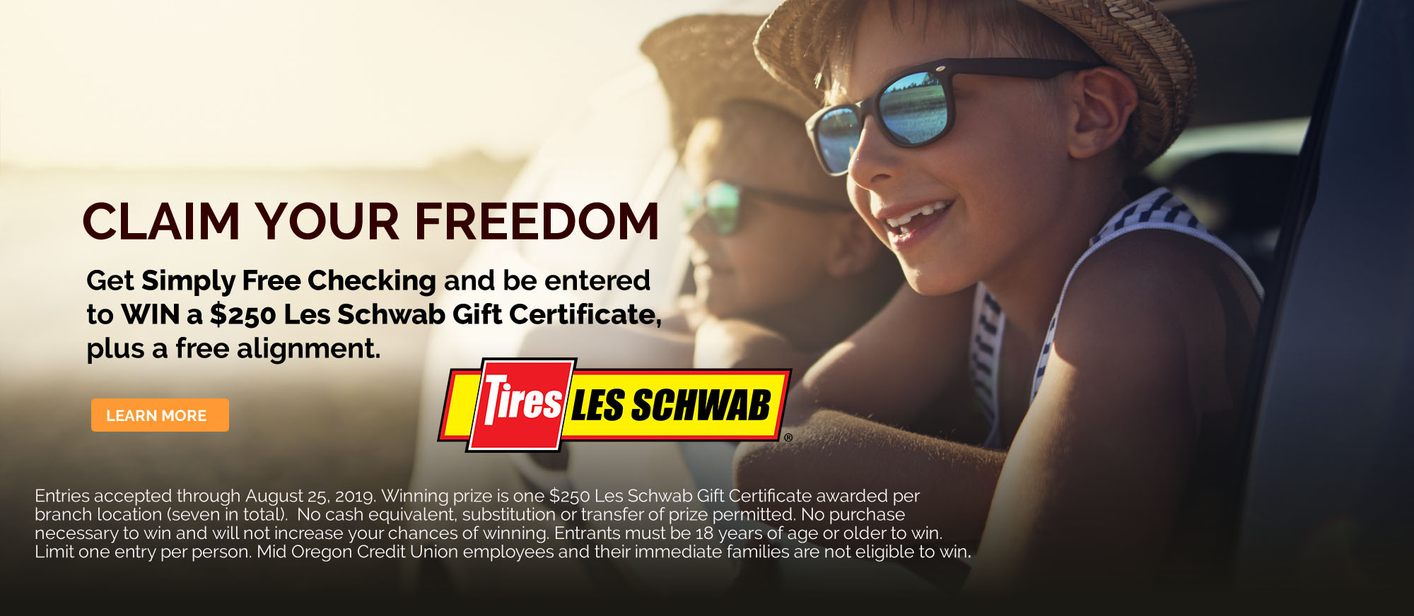 Simply Free Checking Les Schwab Gift Cert Grand Prize