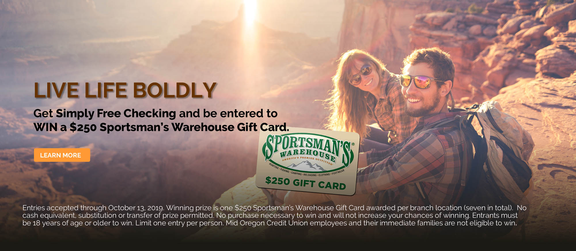 Simply Free Checking Sportsman's Warehouse Gift Card