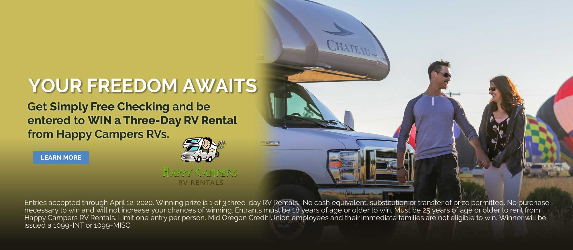 Simply Free Checking Happy Campers Three Day Rental