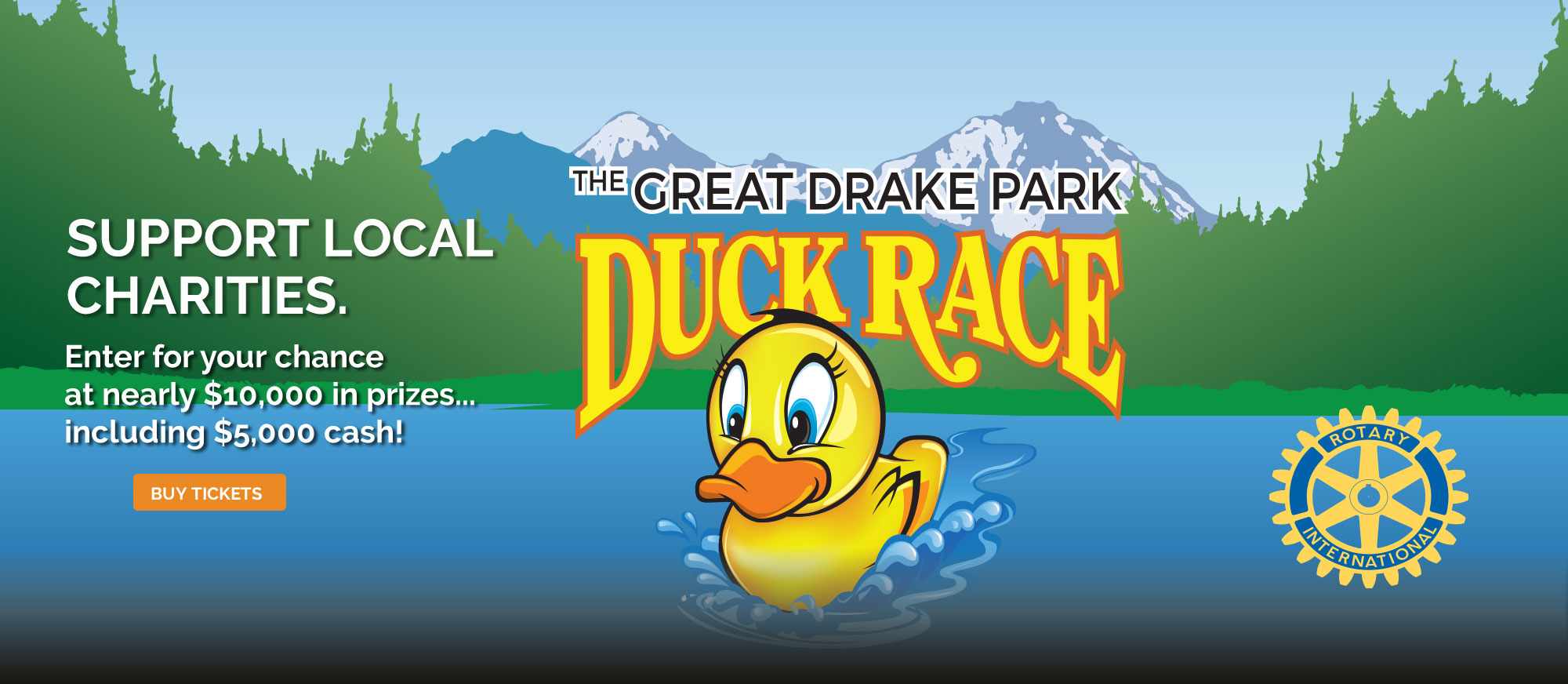 Drake Park Duck Race rubber duck logo